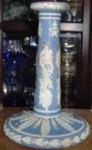 Wood and Caldwell candle stick staffordshire pottery