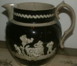 Wood and Caldwell jug staffordshire pottery